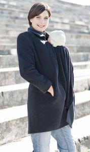 Racine MAMAMANTEAU - Manteau de grossesse et portage en LAINE et CACHEMIRE