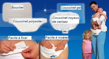Destockage CEINTURE DE SOUTIEN et PROTECTION - COUSSIN chauffant/rafraichissant spécial maternité et césarienne