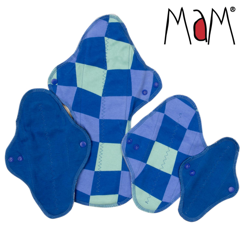 Mam EcoFit, Lunacopine, coussinets d'allaitement et carrés démaquillants MaM ECOFIT LOT D'ESSAI - Serviettes hygiéniques lavables