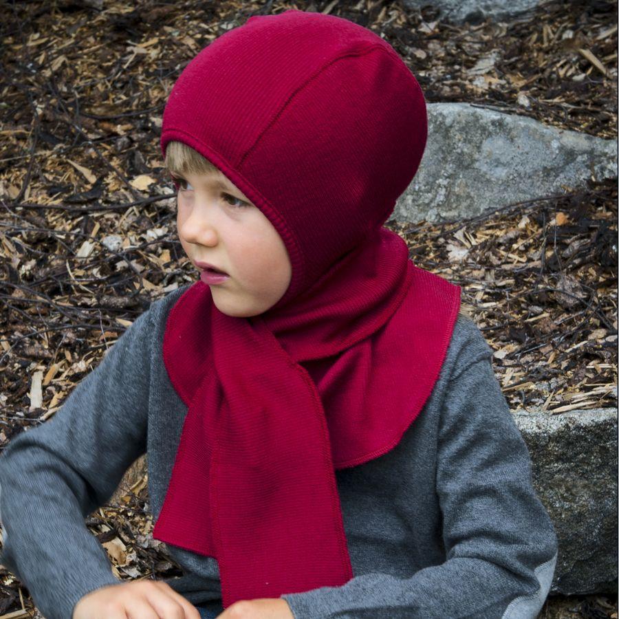 Laine 100% mérinos Ancienne Collection MANYMONTHS - CAGOULE (bonnet éléphant) en pure laine mérinos