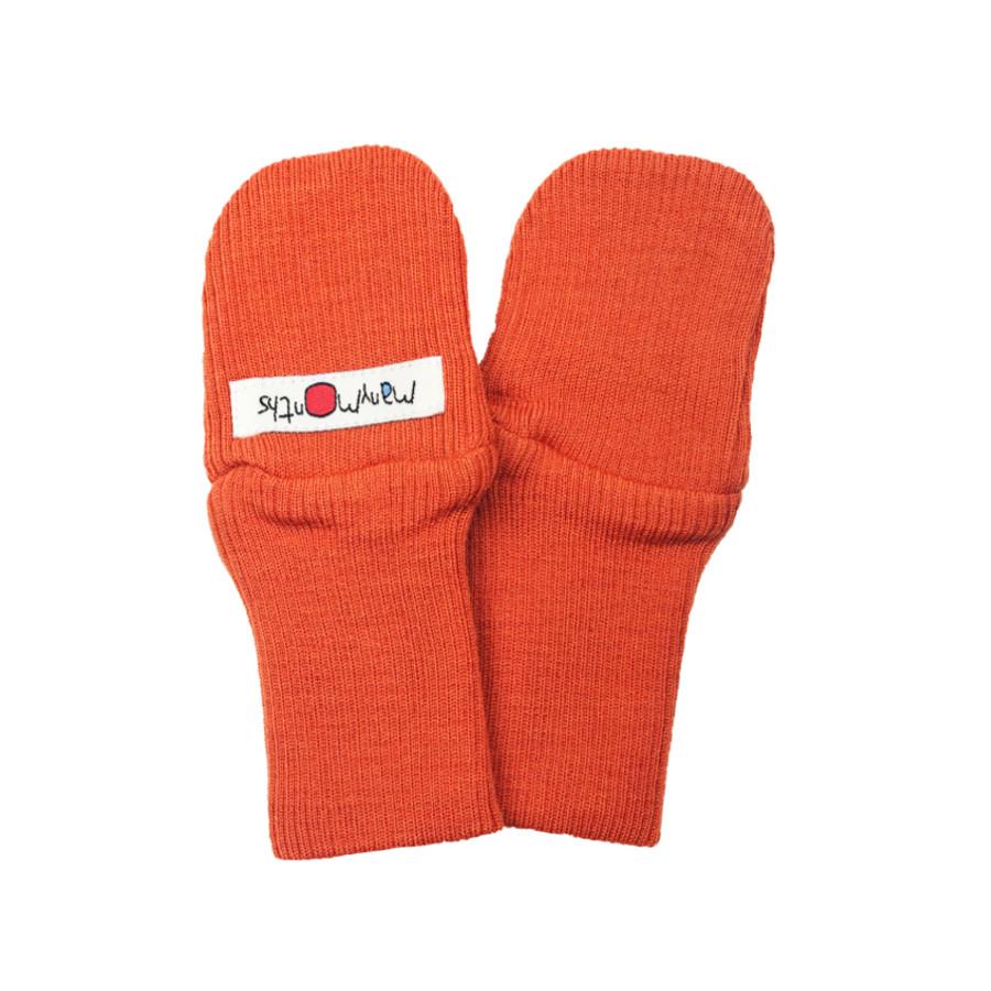 POLOLO KIGA - chaussons souples en cuir naturel avec semelle antidérappante (24-33) MANYMONTHS – MOUFLES en pure laine mérinos