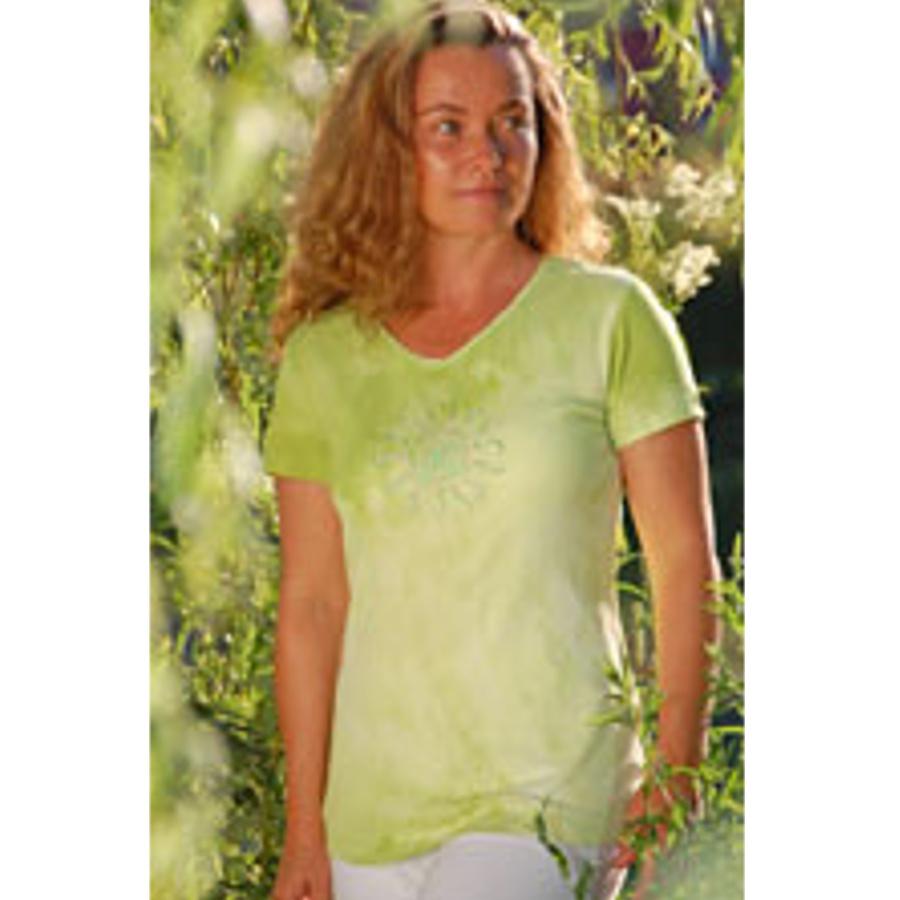 Racine T-Shirt Batik TARA VERTE manches courtes