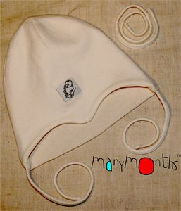 Coton Bio Ancienne Collection MANYMONTHS – BONNET Nourrisson en coton BIO
