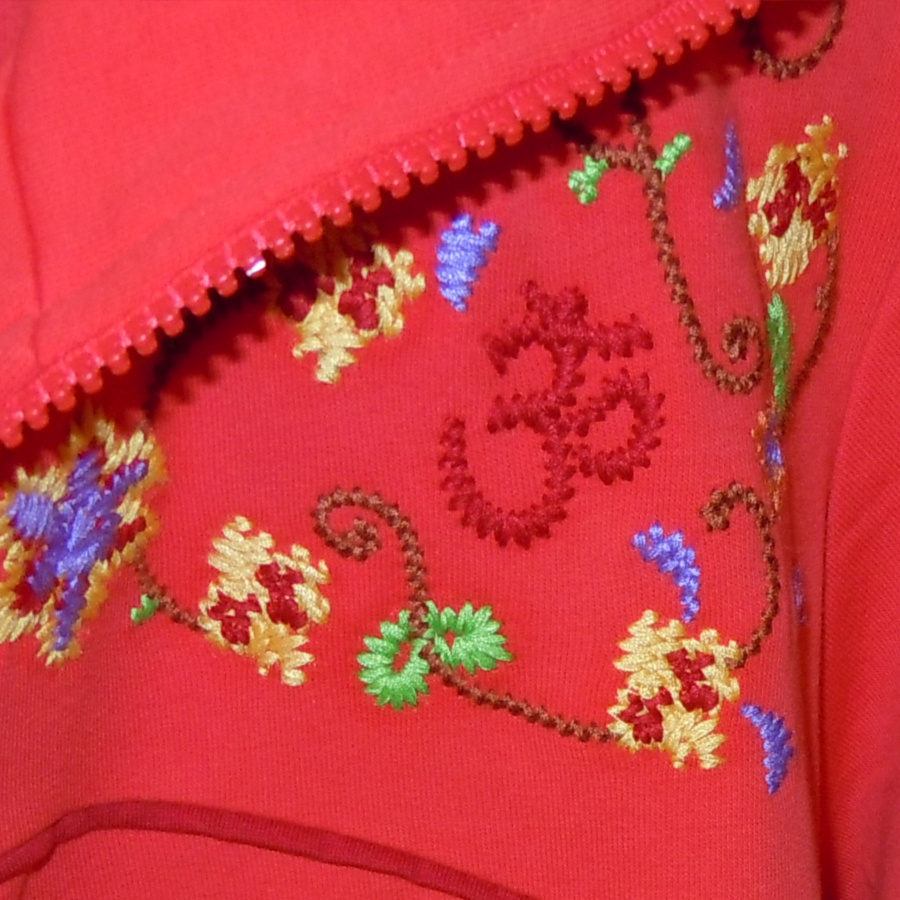VESTES CHAKRA Veste CHAKRA – HIBISCUS avec broderie florale