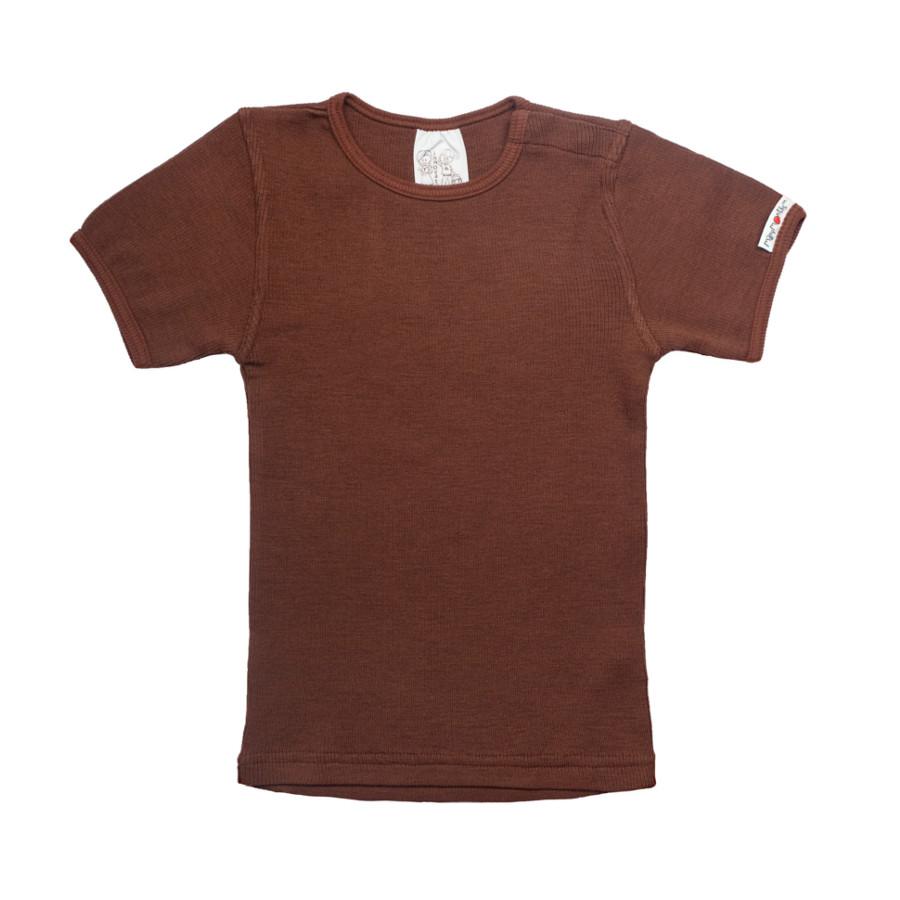 Débardeurs, T-shirts, pulls, gilets, multicapes et bodys MANYMONTHS - T-SHIRT ENFANT manches courtes en pure laine mérinos
