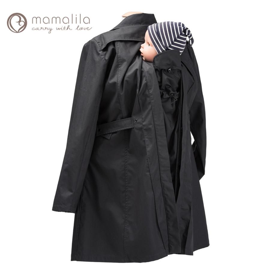 Vestes et manteaux MAMALILA casual MAMALILA – TRENCHCOAT de grossesse et portage 3 en 1 NOIR-GRIS