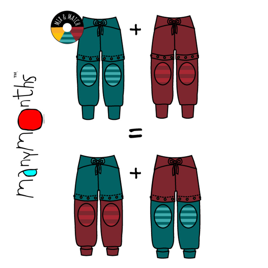Pantalons et pantacourts MANYMONTHS – YOGAPANTS SHORT/LONG en coton bio