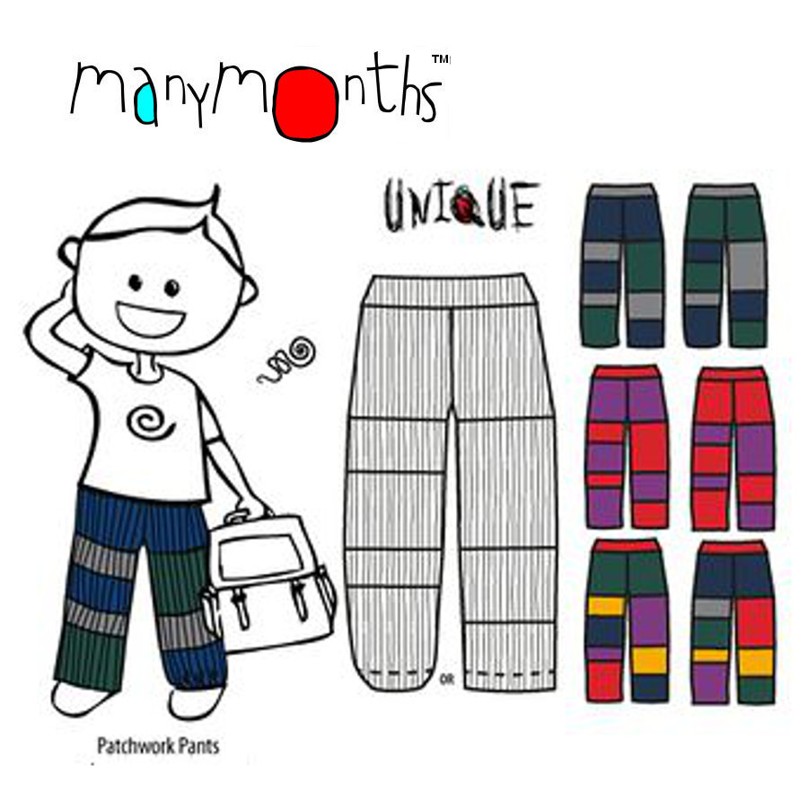 Laine 100% mérinos Ancienne Collection MANYMONTHS – PATCHWORK PANTS