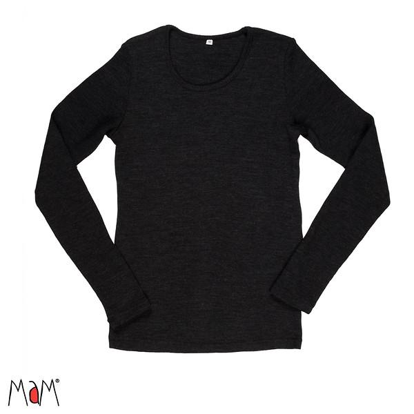 Racine MaM Natural Woollies 2018/19 – t-shirt adulte manches longues en laine - Manymonths