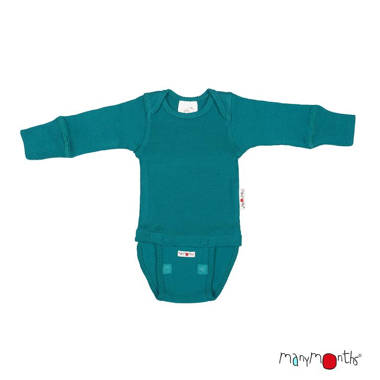 Laine 100% Mérinos 2019-2020 MANYMONTHS 2019/20 –  Body/shirt évolutif manches longues