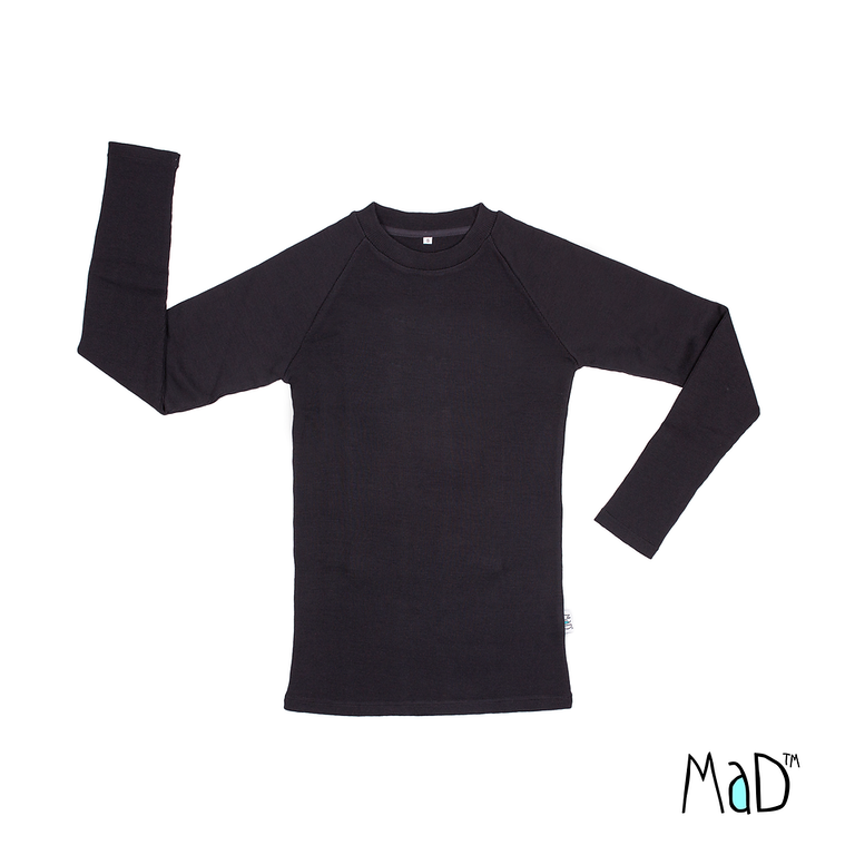Racine MaD 2019/20 Natural Woollies – T-shirt Homme manches longues en laine
