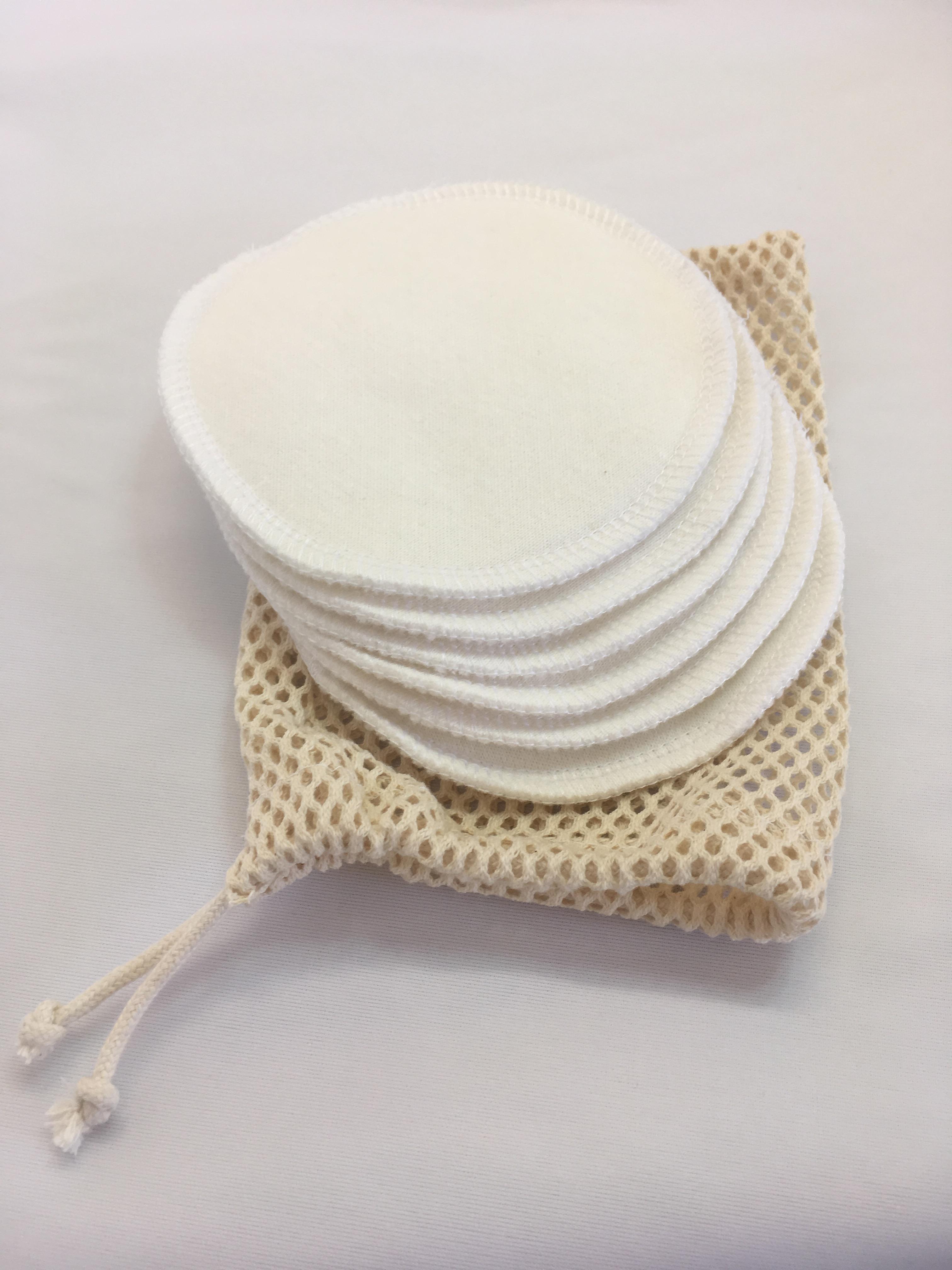 Mam EcoFit, Lunacopine, coussinets d'allaitement et carrés démaquillants Coussinets d'Allaitement bio Kit de 6