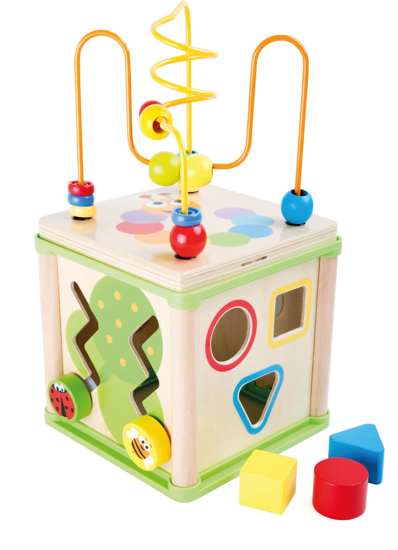 """Jeux et Jouets Legler 2020 - Cube d'activités """"Insectes"""" 5en1"""