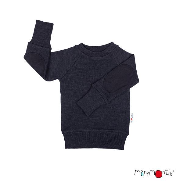 Débardeurs, T-shirts, pulls, gilets, multicapes et bodys MANYMONTHS 2020-21 - Pull en pure laine mérinos avec coudes renforcés
