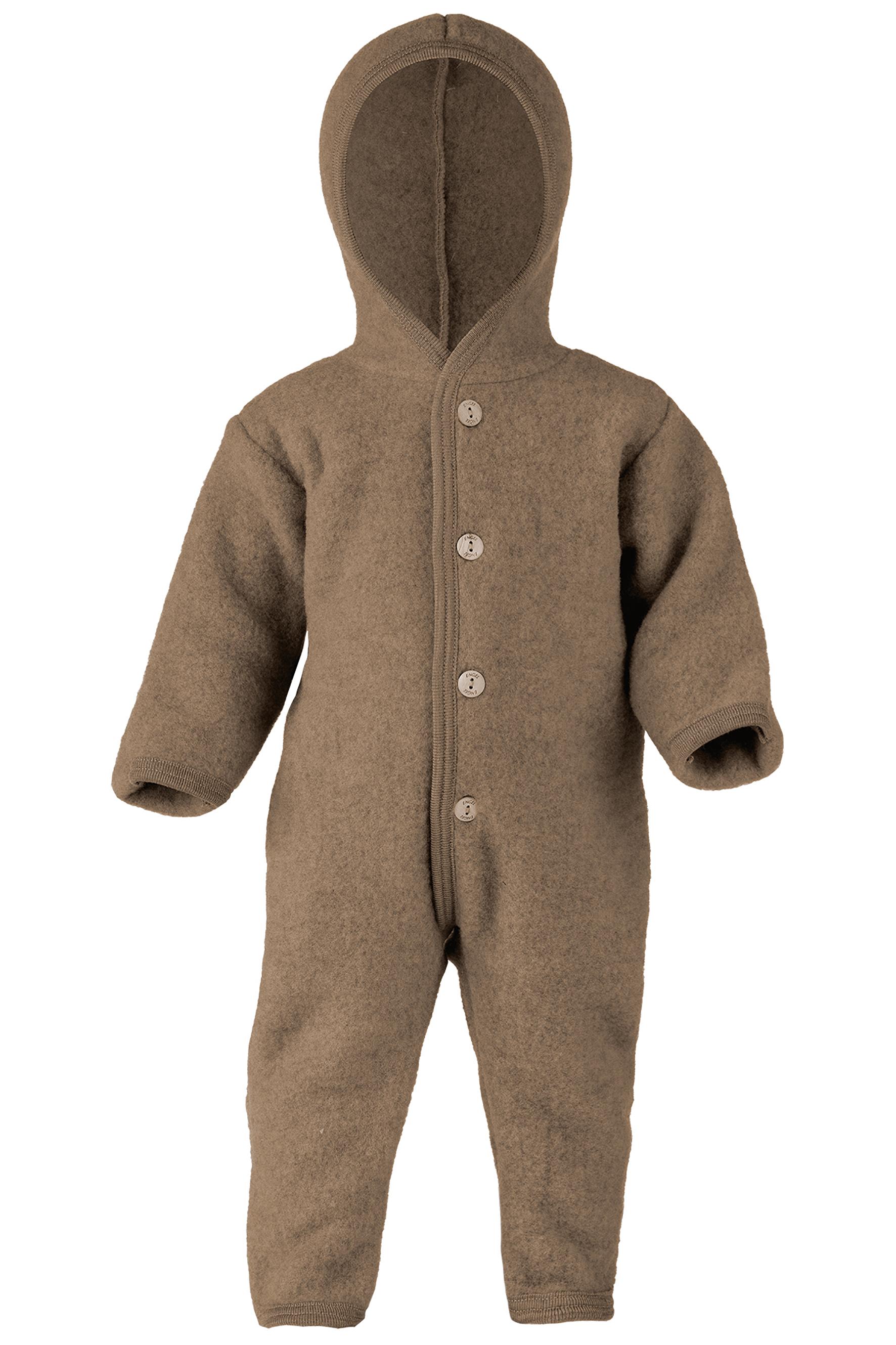 ENGEL Natur (sous-vetements en laine et soie ou 100% laine mérinos) ENGEL Nouveauté - Combinaison bébé en 100% laine mérinos, polaire (50 au 92)