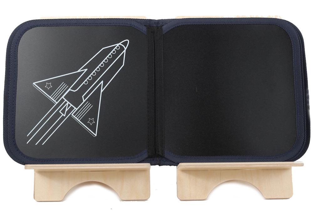 Loisirs Créatifs Série Spéciale - Cahier ardoise illustré + 4 craies Zéro poussière