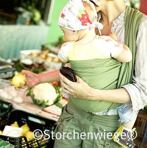 Echarpes porte-bébé STORCHENWIEGE Echarpe Storchenwiege LEO VERTE