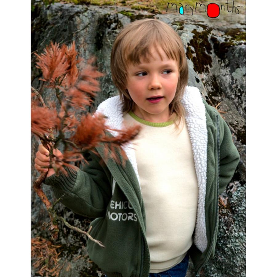 Racine MANYMONTHS - T-SHIRT ENFANT Manches longues en pure laine mérinos