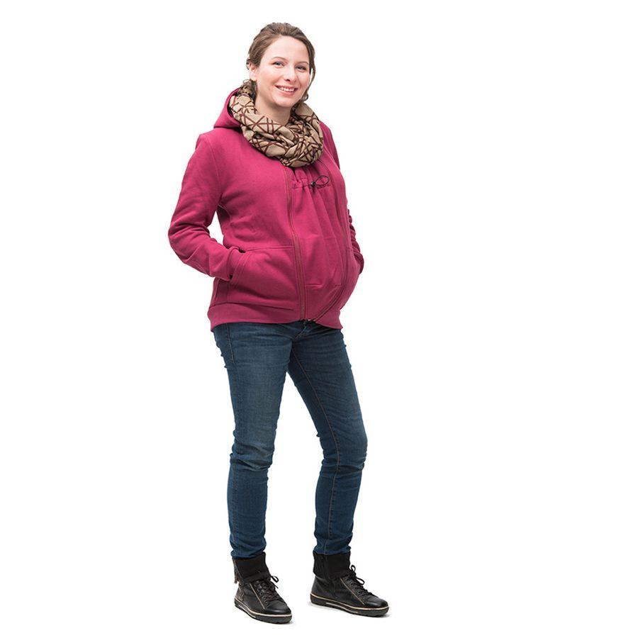 Racine MAMALILA - GILET ZIPPÉ FUCHSIA de grossesse et portage en coton biologique