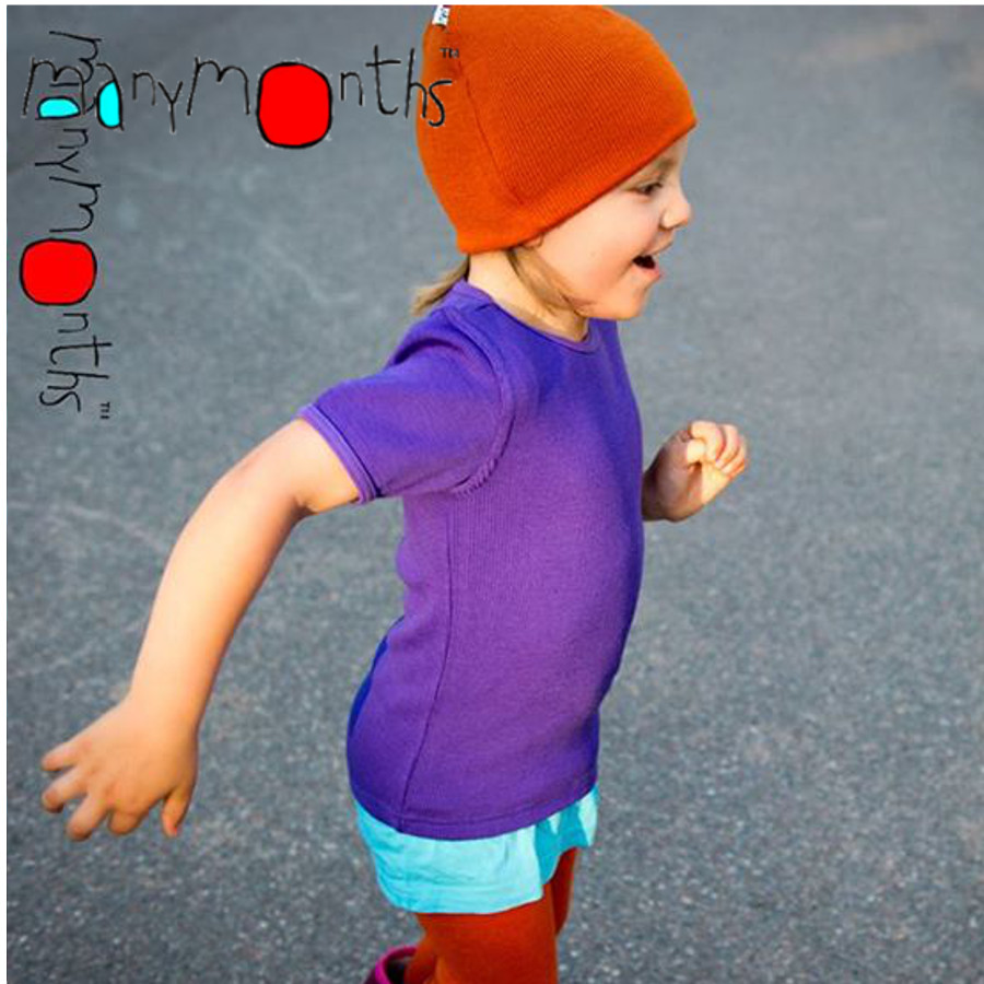 Laine 100% mérinos Ancienne Collection MANYMONTHS - T-SHIRT ENFANT manches courtes en pure laine mérinos