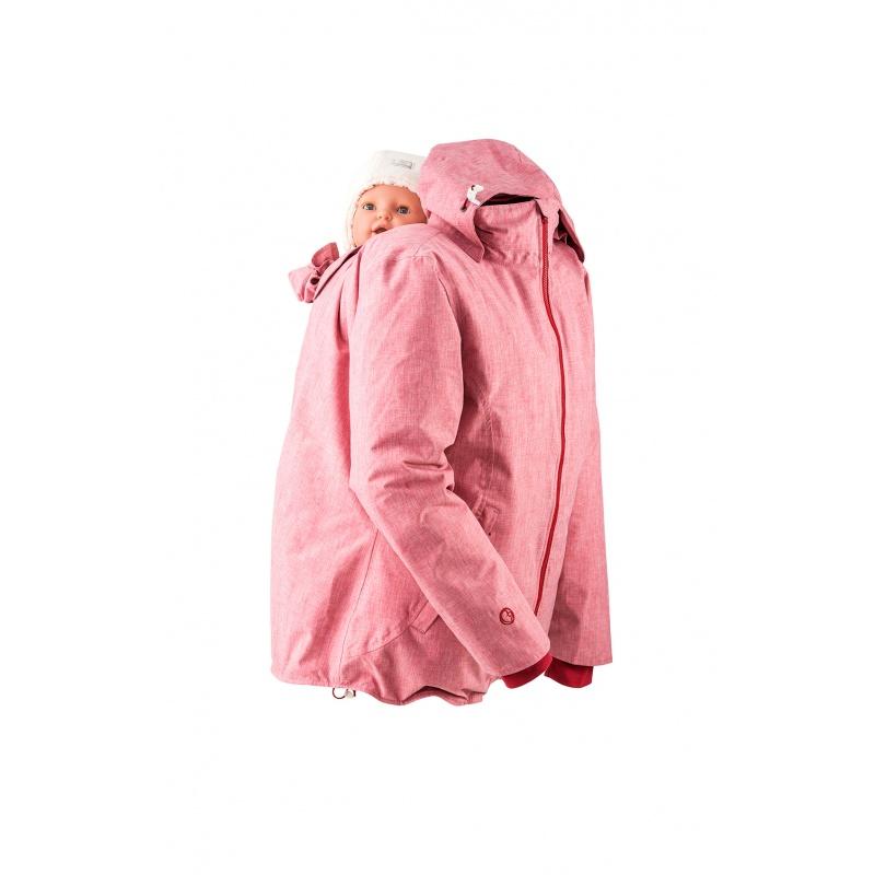 Racine MAMALILA - Veste de grossesse et de portage HIVER – ROSE DENIM