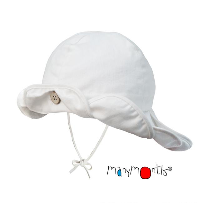 Coton Bio Ancienne Collection ManyMonths - CHAPEAU DE SOLEIL ajustable FLEUR
