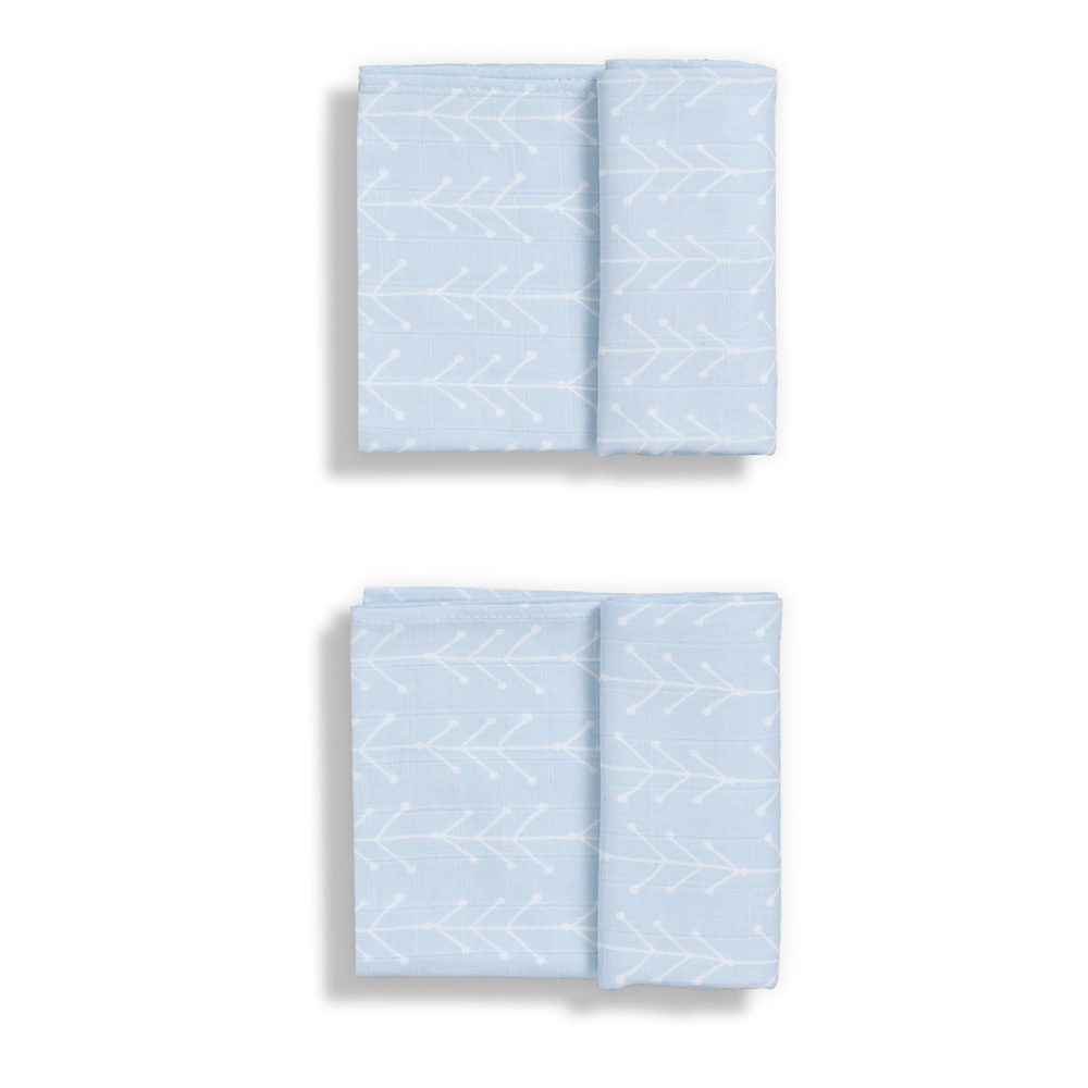 Langes GLOOP ! GLOOP ! Set de 2 Maxi langes 100x100 en 100% mousseline de coton bio