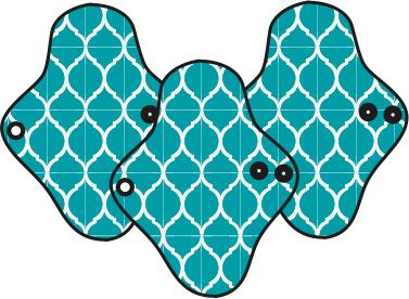 Mam EcoFit, Lunacopine, coussinets d'allaitement et carrés démaquillants MaM ECOFIT 2020 REGULAR - Serviettes hygiéniques lavables