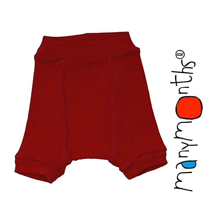 Shorts, shortys, longies, leggings, collants, salopette MANYMONTHS 2019-20 – SHORTIES en pure laine merinos