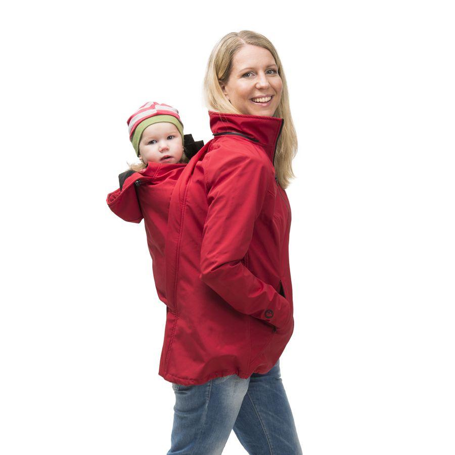 Écharpes STORCHENWIEGE MAMALILA - Veste de grossesse et portage été SYMPATEX – ROUGE