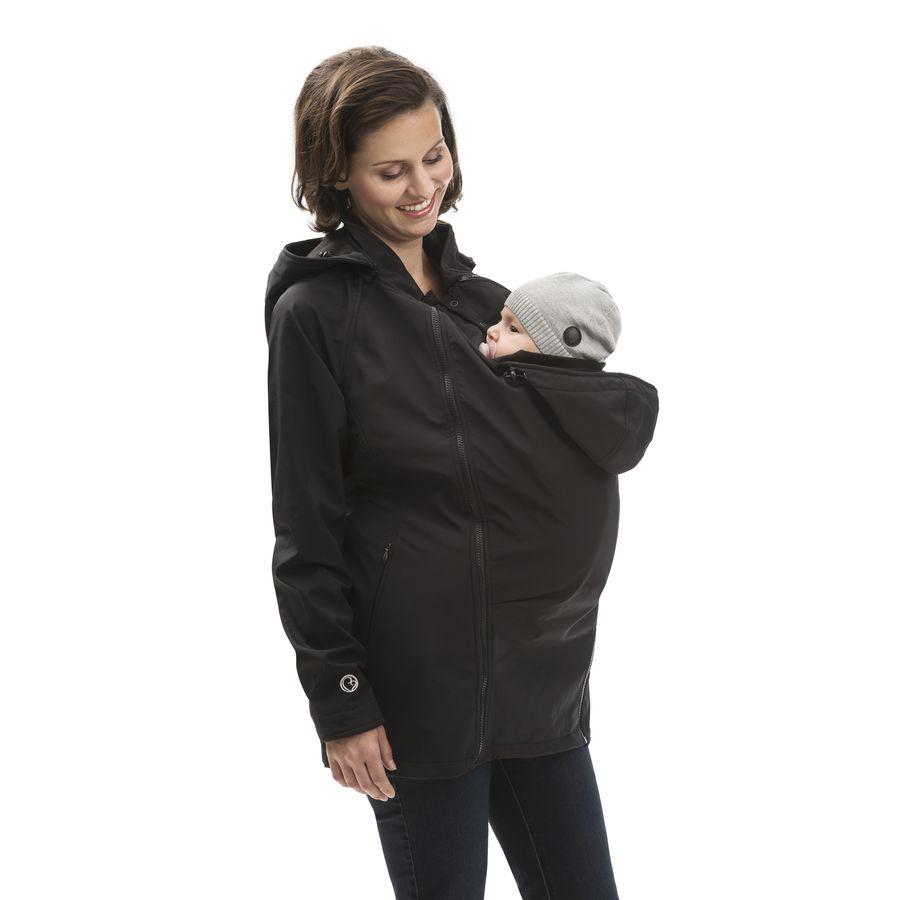Racine  MAMALILA - Veste de grossesse et de  portage SOFTSHELL Sympatex – NOIR