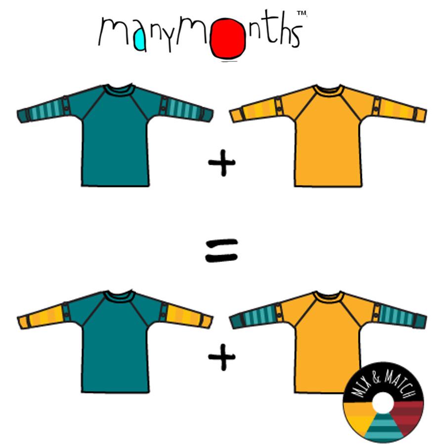 Racine MANYMONTHS – T-SHIRT 2en1 à manches amovibles