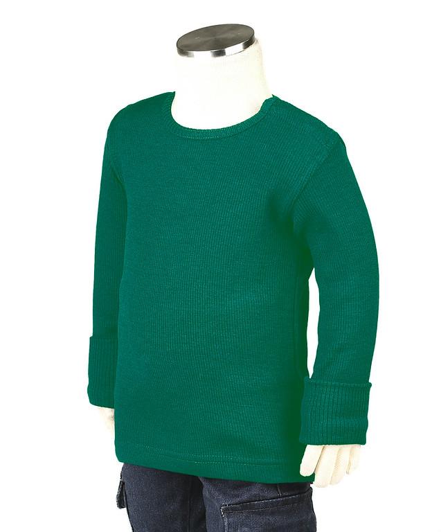 Débardeurs, T-shirts, pulls, gilets, multicapes et bodys MANYMONTHS 2019/20 - T-shirt enfants manches longues en pure laine mérinos