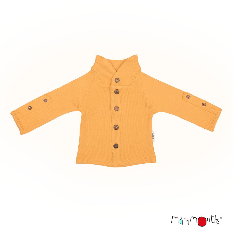 Débardeurs, T-shirts, pulls, gilets, multicapes et bodys MANYMONTHS 2019/20 – Gilet à Col remontant en pure laine mérinos