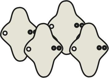 Mam EcoFit, Lunacopine, coussinets d'allaitement et carrés démaquillants MaM ECOFIT 2020 MINI - Protège-slips lavables (livraison en cours)