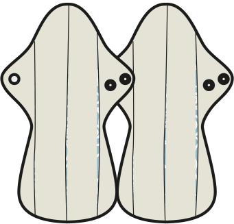 Mam EcoFit, Lunacopine, coussinets d'allaitement et carrés démaquillants MaM ECOFIT 2020 MAXI NUIT - Serviettes hygiéniques lavables