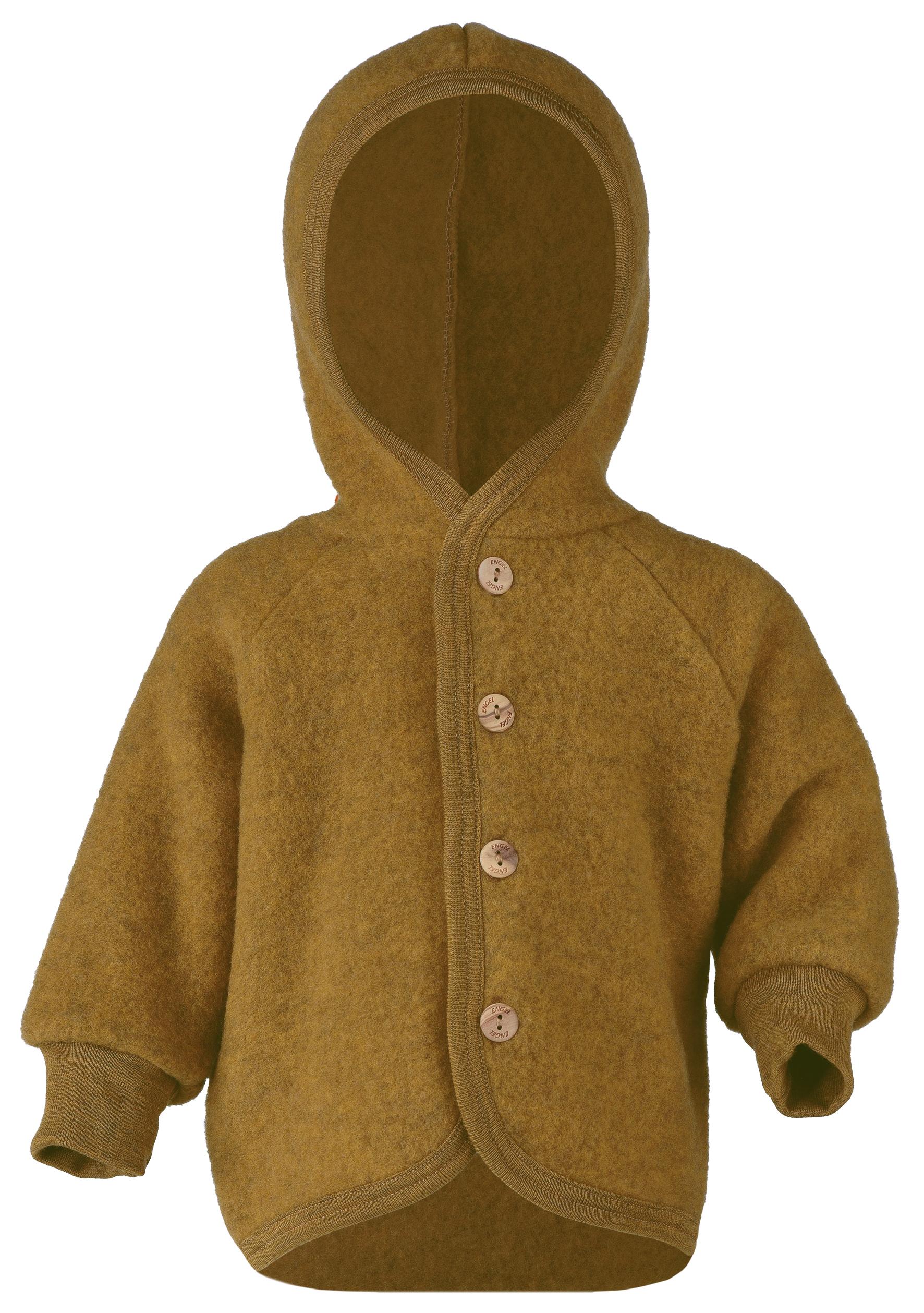 Gigoteuses et combinaisons, manteaux ENGEL Nouveauté - Manteaux bébés avec capuche en 100% laine mérinos, polaire (50 au 92)