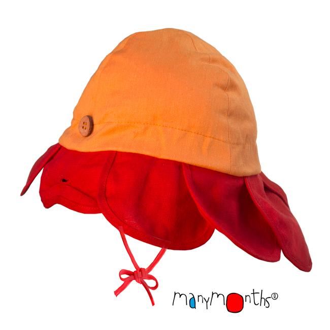 Chapeaux été ManyMonths - CHAPEAU DE SOLEIL ajustable FLEUR