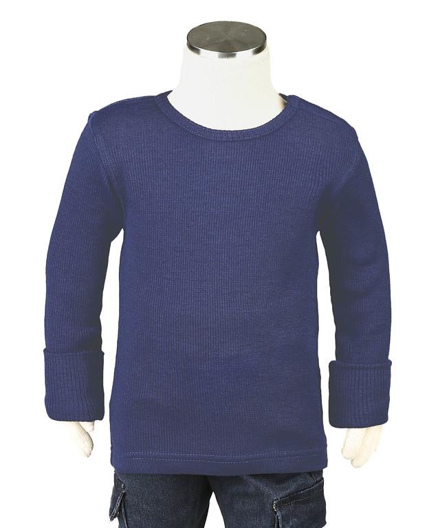 Laine 100% Mérinos 2019-2020 MANYMONTHS 2019/20 - T-shirt enfants manches longues en pure laine mérinos