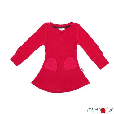 Laine 100% Mérinos 2019-2020 MANYMONTHS 2019/20 – Robe poches coeur évolutive en pure laine mérinos