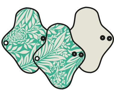 Mam EcoFit, Lunacopine, coussinets d'allaitement et carrés démaquillants MaM ECOFIT 2020  REGULAR PLUS - Serviettes hygiéniques lavables