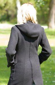 Destockage MAMALILA - Manteau de grossesse et portage  à capuche en laine