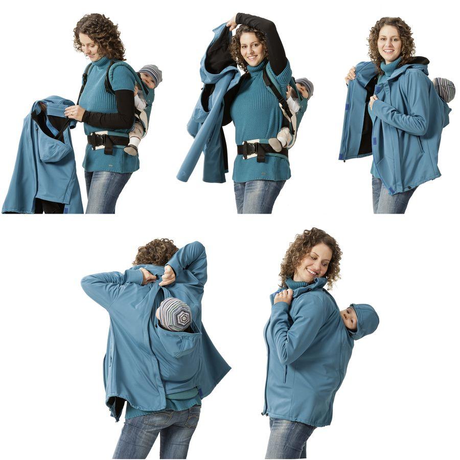 Vestes et manteaux MAMALILA casual MAMALILA - Veste de grossesse et portage été SYMPATEX – ROUGE