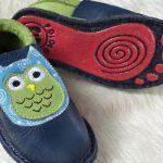POLOLO KIGA - chaussons souples en cuir naturel avec semelle antidérappante (24-33)