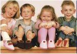 FINS DE SERIES - Chaussons Pololo  en cuir naturel pour toute la famille